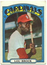 1972 Topps Baseball Cards      200     Lou Brock
